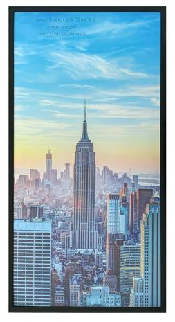 Frame Amo Black 24x48 Picture or Poster Frame, Aluminum Bord