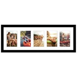 Americanflat Black Collage Picture Frame with 5 Openings; Ma