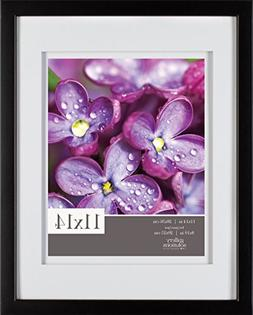 Gallery Solutions 11x14 Black Wood Wall Frame with Double Wh
