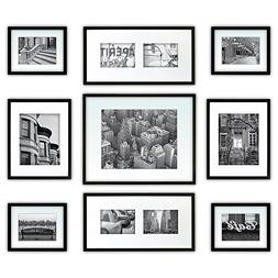 GALLERY PERFECT 9 PIECE BLACK FRAME KIT