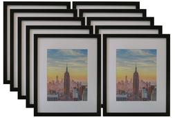 Frame Amo Black Wood Picture Frame 1 inch border with White