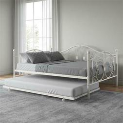 DHP Bombay Full Size Metal Daybed Frame and Twin Size Trundl