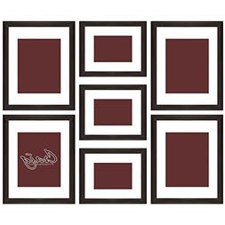 Craig Frames 7 Piece Brown Gallery Wall Frame Set with Glass