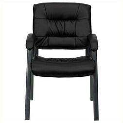Flash Furniture BT-1404-BKGY-GG Black Leather Executive Side