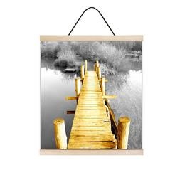 Canvas Wall Art with Magnetic Wooden Poster Photo Frames Wal