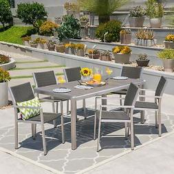 Cape Coral Outdoor Rectangle Aluminum 7-piece Dining Set by