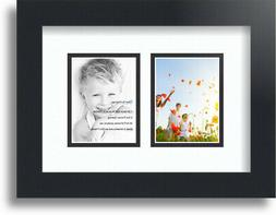 "ArtToFrames Collage Mat Picture Photo Frame 2 3x4"" Openings"