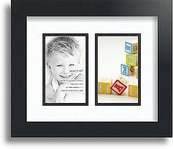 "ArtToFrames Collage Mat Picture Photo Frame 2 3x5"" Openings"