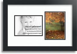 """ArtToFrames Collage Mat Picture Photo Frame 2 5x7"""" Openings"""