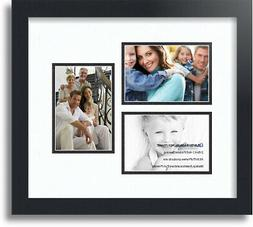 """ArtToFrames Collage Mat Picture Photo Frame 3 4x6"""" Openings"""
