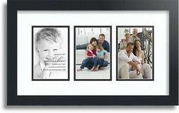 "ArtToFrames Collage Mat Picture Photo Frame - 3 4x6"" Opening"
