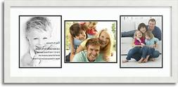 "ArtToFrames Collage Mat Picture Photo Frame 3 8x10"" Openings"