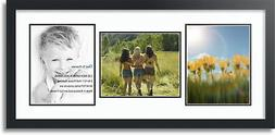 """ArtToFrames Collage Mat Picture Photo Frame 3 8x10"""" Openings"""