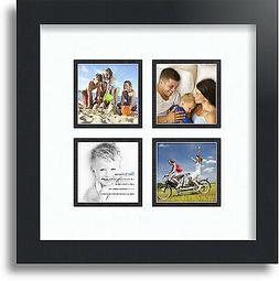 "ArtToFrames Collage Mat Picture Photo Frame - 4 3x3"" Opening"