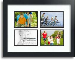 """ArtToFrames Collage Mat Picture Photo Frame - 4 4x6"""" Opening"""