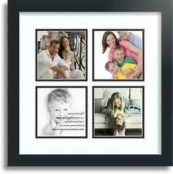 "ArtToFrames Collage Mat Picture Photo Frame - 4 5x5"" Opening"