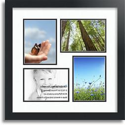 "ArtToFrames Collage Mat Picture Photo Frame 4 5x7"" Openings"