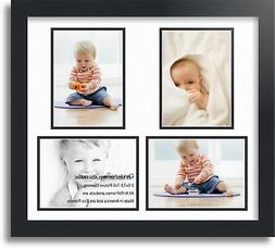 """ArtToFrames Collage Mat Picture Photo Frame 4 5x7"""" Openings"""