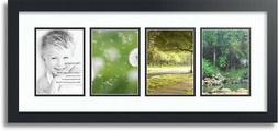 """ArtToFrames Collage Mat Picture Photo Frame - 4 5x7"""" Opening"""