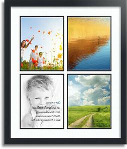 """ArtToFrames Collage Mat Picture Photo Frame 4 8x10"""" Openings"""