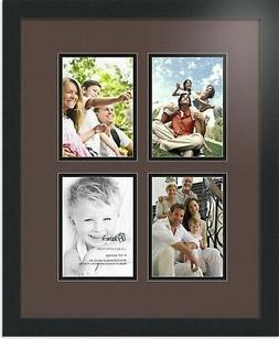 ArtToFrames Collage Photo Frame Double Mat with 4 - 5x7 Open