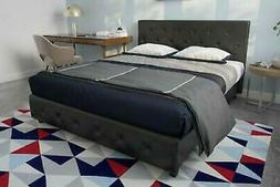Contemporary Black Queen Size Bed Frame With 10-Inch Memory