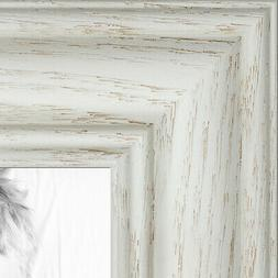 """ArtToFrames Custom Picture Poster Frame Gray Grey Distressed  1.75/"""" Wide Wood"""