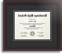 ArtToFrames Diploma Frame with Black and Gold Mat, Single Op