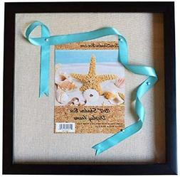 """12x12"""" Display Shadow Box Frame with Linen Background & 8"""