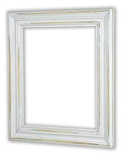 Distressed White Picture Frame - Solid Wood