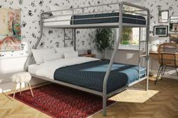 Dorel Home Products Twin-Over-Full Bunk Bed, Silver