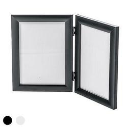 Double Photo Frame Picture Frames Folding Standing Hinged Bl
