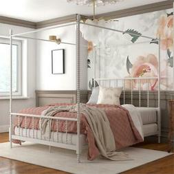 DHP Emerson Metal Canopy Bed in Full Size Frame in White