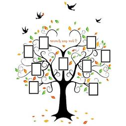 Family Tree Picture Frame Set For Walls Photo Decal Collage