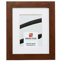 Craig Frames FM26WA 12x18 Brown Picture Frame Matted to Disp