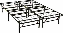 Foldable Platform Bed Frame Tool-Free Assembly Under-Bed Sto