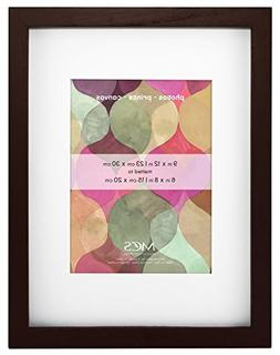 MCS Art Frame 9x12 Inch Frame with 6x8 Inch Mat Opening, Wal