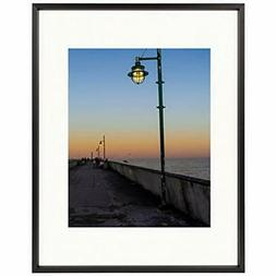 - Frametory, 11x14 Aluminum Black Photo With Ivory Color Mat