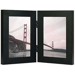 - Frametory, 4x6 Inch Black Hinged Picture Made Display Two
