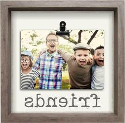SIXTREES Friends 10X10-5X7 Inch Wood Decorative Picture Fram