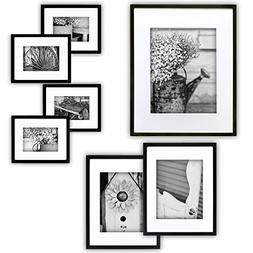 Gallery Perfect 7 Piece Black Photo Frame Wall Gallery Kit w