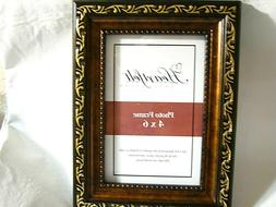 "Heartfelt Collection Gold Etched Wood Style 8 x 6"" Frame  4x"