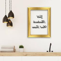Gold Wood Frame Perfect for Picture Photo Art Decor Modern C
