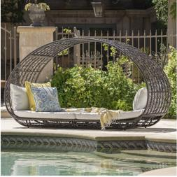 grey outdoor day bed cushions christopher knight