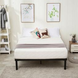 King Size Metal Platform Bed Frame Wood Slats Mattress Found