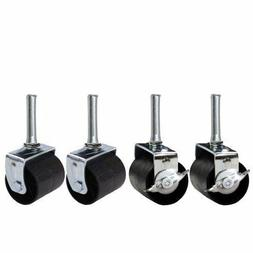 King's Brand Heavy Duty Caster Wheels Bed Frame ~Set Of 4~ (