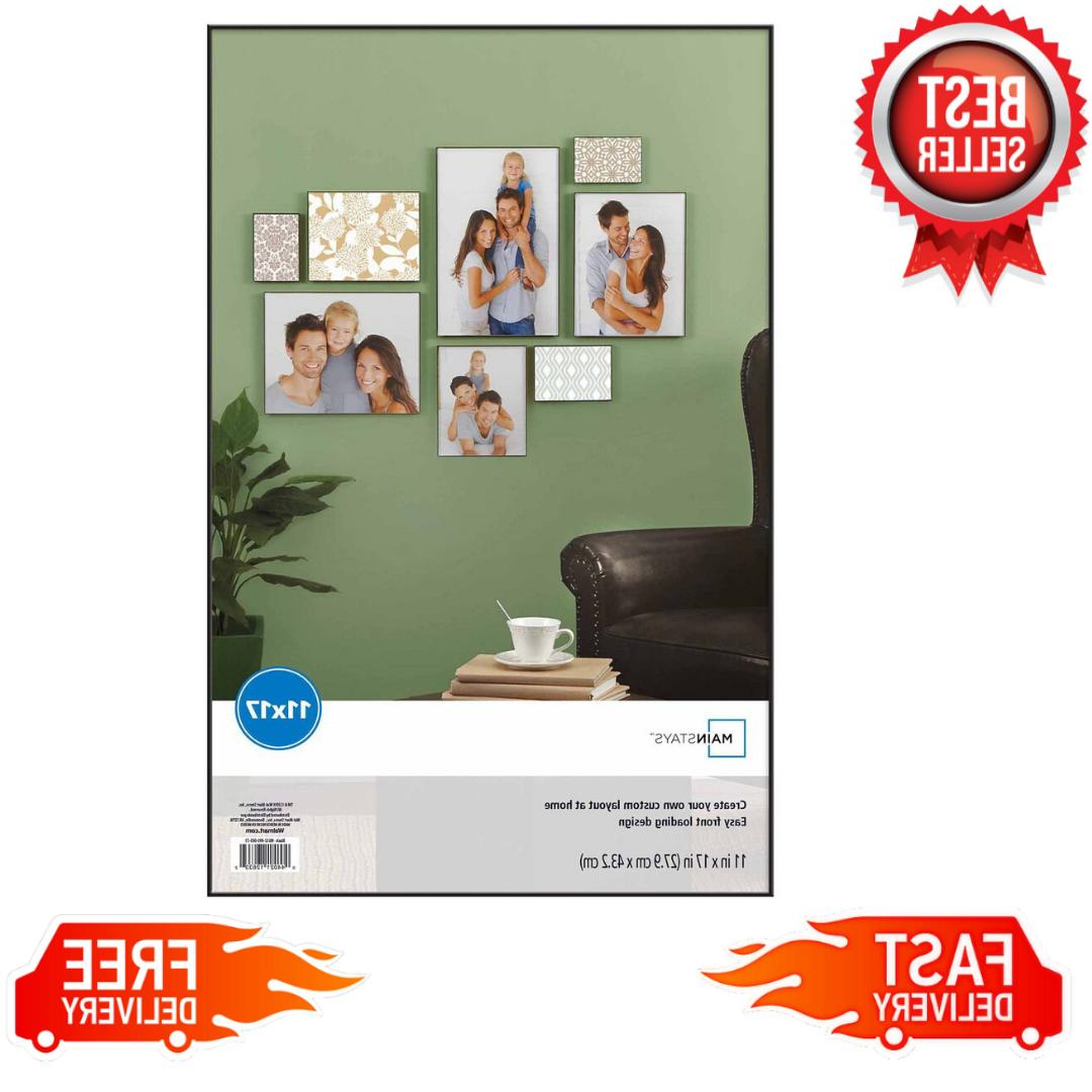 11 x 17 format picture frame wall