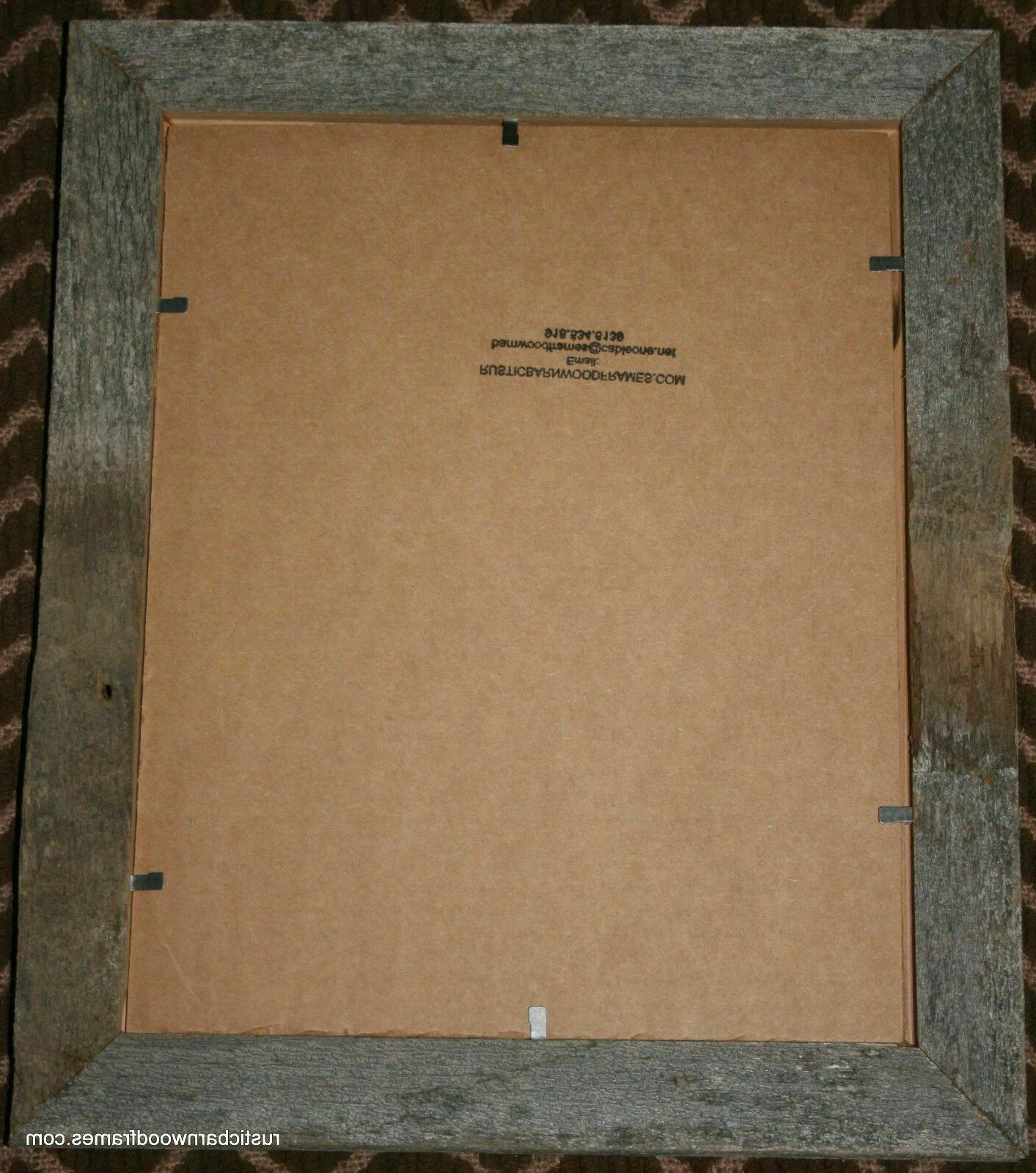 """3x5"""" rustic barn wood picture photo frame distressed natural"""
