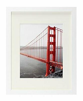 Frametory, 11x14 White Picture Frame - Made to Display Pictu