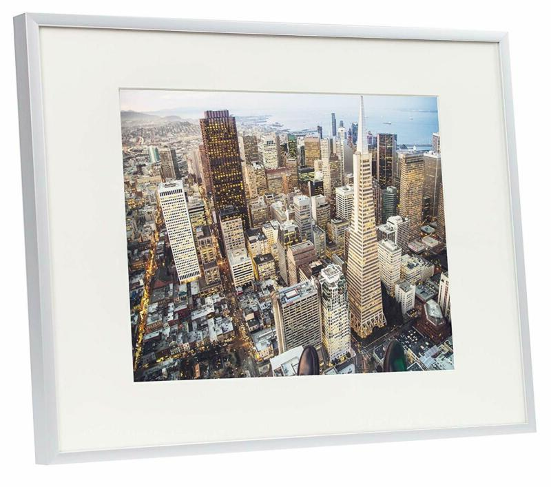 Frametory, Aluminum Silver Photo With Ivory Color Mat For 8.